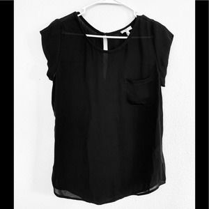 Joie Black 100% Silk Blouse